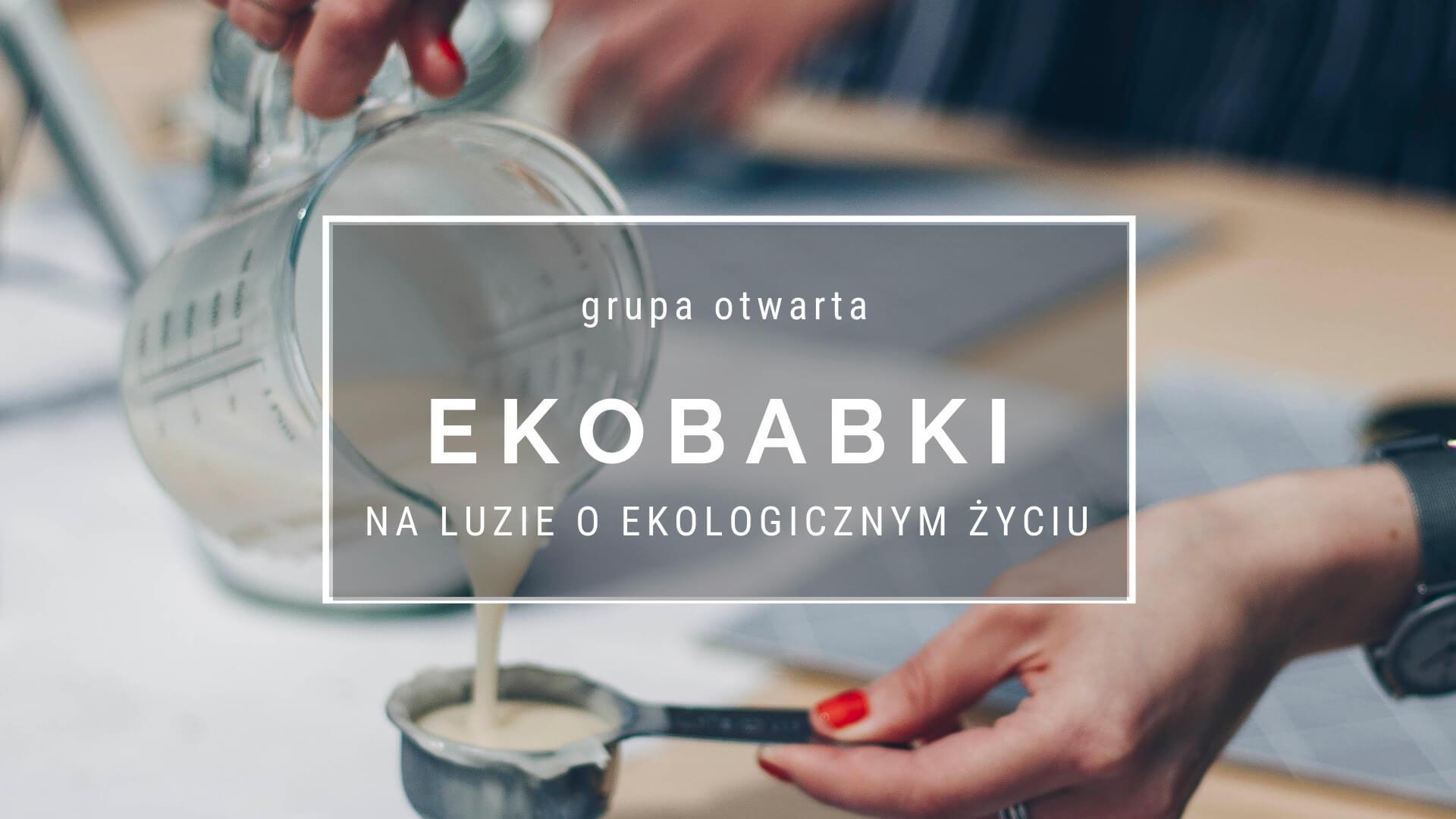 Napis grupy na facebook Ekobabki na luzie o ekologicznym życiu
