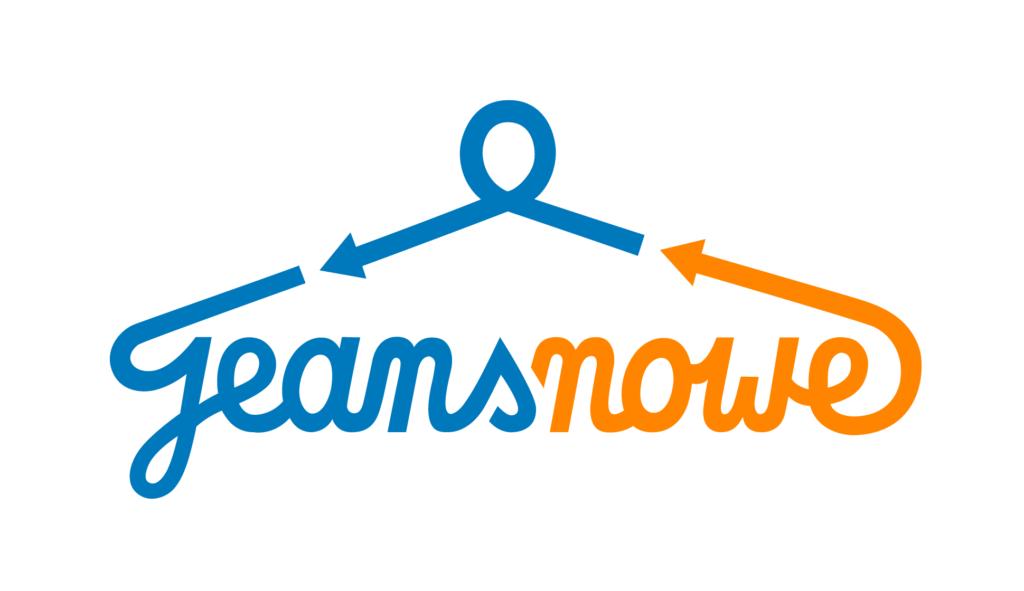 Logo projektu jeansnowe niebieski i pomarańczowy