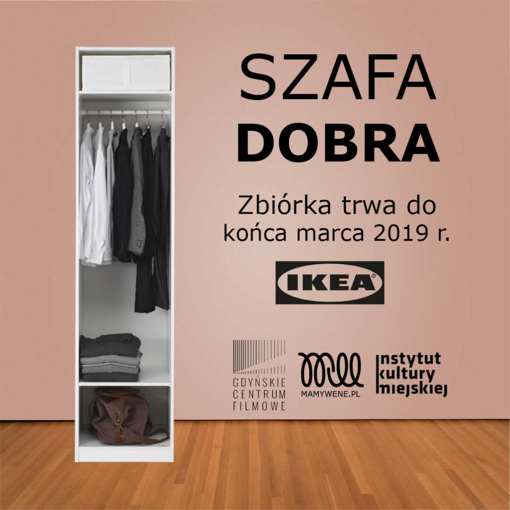 Plakat zbiórki odzieży dla potrzebujących