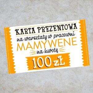 karta prezentowa voucher na 100zł